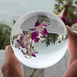 Janni-Shop-Geschliffene-Formen-Glaskugel-Kristallkugel-Wahrsagerkugel-Feng-Shui-Kugel-schne-klare-Qualitt-mit-Glas-Stnder-80-mm