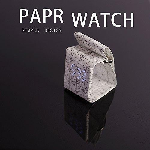 YUANP-DigitaluhrPapieruhrCasual-UhrpapierWasserdicht-Ultra-Light-Und-Magnetisches-System-Fr-Dauerhafte-Passform-Mnner-Frauen-Mdchen-Jungen-Etc-Beste-Geschenkauswahl