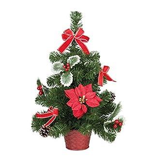 Unbekannt-III-Dekobaum-im-Topf-mit-Weihnachtsstern-und-Schleifen-ca-50-cm-Dekoration-fr-Weihnachten-Nikolaus-und-in-der-Adventszeit-Rot-Keine