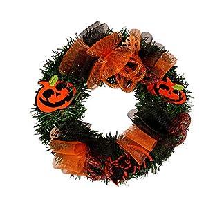 FeiliandaJJ-30cm-Kranz-Deko-Krbis-Trkranz-fr-Weihnachten-Halloween-Thanksgiving-Heim-Fenster-Party-Dekor