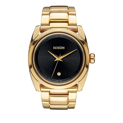 g nstig nixon herren uhr queenpin all gold black bei uhren deals kaufen. Black Bedroom Furniture Sets. Home Design Ideas