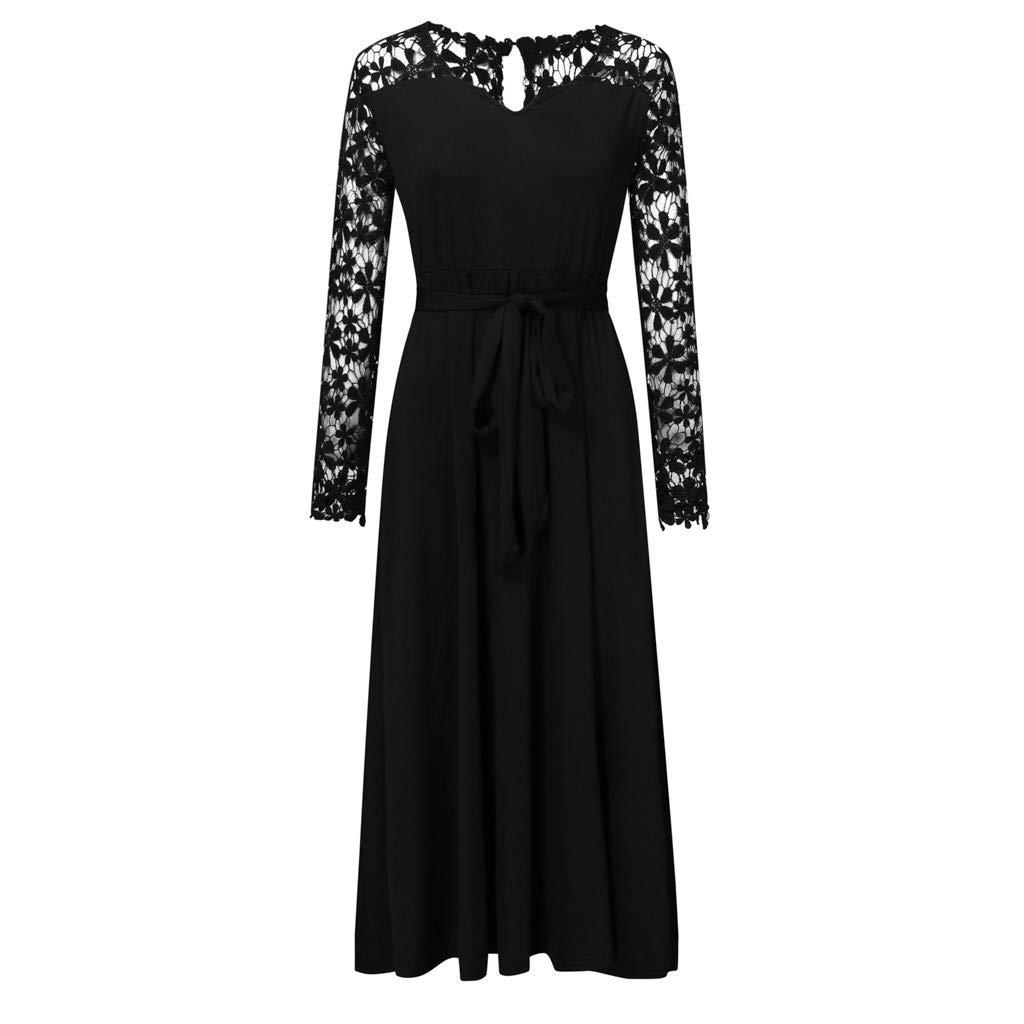 AQIN Damen Sexy Vintage Maxikleid Plisse Abendkleider ...