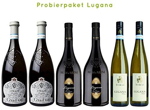 Probierpaket-Lugana-Il-Frati-Bulgarini-Limne-Weiwein-aus-Venetien-6-x-075-L-trocken