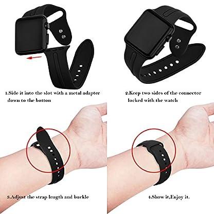 Uhrenarmbander-KZKR-Silikon-Armband-Uhrarmband-Schwarz-Blau-Rosa-Multicolor-Edelstahl-Faltschliee-Uhr-Armband-3842mm-Uhren-Band-fr-iWatch-1-2-3-Apple-Watch-B0356