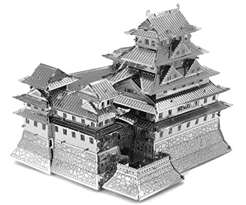Fascinations-Metal-Earth-MMS055-502576-Himeji-Castle-Konstruktionsspielzeug-3-Metallplatinen-ab-14-Jahren