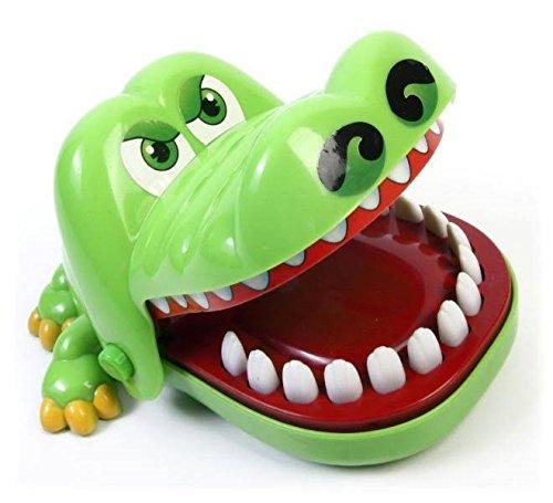HUKITECH-Crocodile-Dentist-Krokodil-Spiel-KAYMAN-Geschicklichkeitsspiel-Kroko-Doc-Aktionsspiel-Zahnarzt-Reflex-Game-Familienspiel-mit-Hohem-Spafaktor