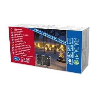 LED-Eisregen-Lichtervorhang-weies-Kabel