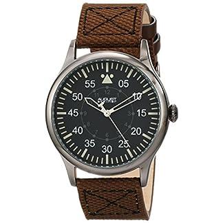 August-Steiner-Herren-Urbane-Analog-Quarz-Armbanduhr-mit-Textil-Armband