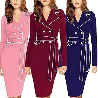 Damen-Kleider-Kleidung-Cocktailkleid-Rockabilly-Winterkleid-Elegant-Knielang-Festlich-Strandkleid-Abendkleid-Partykleid-Langarm-Anzug-Farbe-Pencil-Langes-Kleid-Maxikleid
