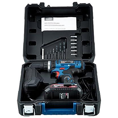 HYUNDAI-Akku-Bohrschrauber-CD1801LI-Akkubohrer-18V-Li-Ionen-mit-Schnellspannfutter-2-Gang-Getriebe-LED-Leuchte-Softgriff-Grtelclip