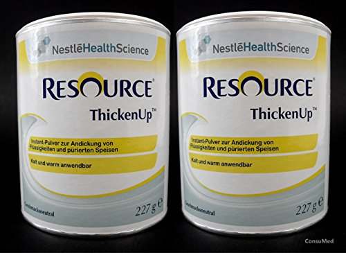 2x 227g ThickenUp von Nestle Health Science Andickungsmittel – Andickungspulver – im exclusiven ConsuMed Bundle