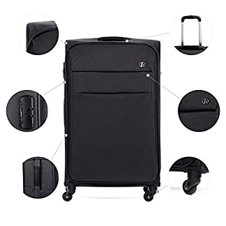 FERG-Koffer-Kofferset-Weichschale-Handgepck-55-cm-L-XL-Stoffkoffer-Set-4-Rollen