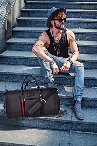 Groe-Qualitt-Fitnesstasche-Groe-Qualitt-Fitness-Tasche-Duffel-Bag-Trainingstasche-Klein-Sporttasche-Sporttasche-Weekend-Reisetasche-Weekender-Carry-on-mit-separaten-Schuhfach-fr-Mnner-und-Frauen