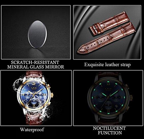 Uhren-fr-HerrenLIGE-Braunes-Lederarmband-Sport-Analog-Quarz-Armbanduhr-Wasserdicht-Chronograph-Datum-Kalender-Business-Casual-Luxus-Leuchtendes-Kleid-Uhr-Gold-Blau