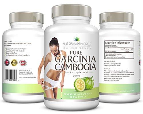 Garcinia Cambogia, Ultra starke Diät-Pillen, 2100 mg Original Garcinia Cambogia pro Tagesdosis. Premium-Gewichtsverlust & natürlicher Appetitzügler für schnelles & Effektives Abnehmen. Die meistverkaufte Diät Ergänzung. 90 Vegetarischer Vegan-Kapseln.
