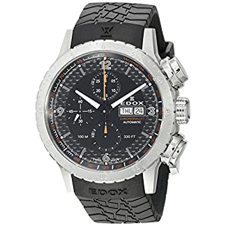 Edox-Chronorally-1-Herren-Armbanduhr-45mm-Armband-Kautschuk-Schwarz-Gehuse-Edelstahl-Automatik-01118-3-NO