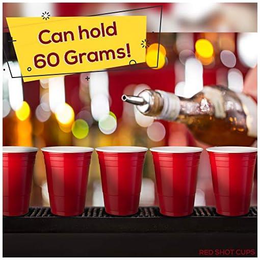 180x-Red-Mini-Beer-Pong-Plastikbecher-Extra-Starke-Plastikbecher-Mini-Beer-Pong-Set-180-Cups-und-10-Bier-Pong-Blle-Trinkspiel-Party-Set-Einweg-und-wiederverwendbar-Starke-Plastik-Schnapsglser-Ideal-fr