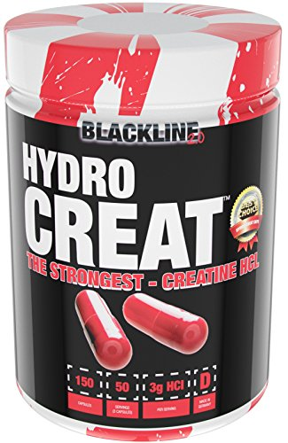 BlackLine 2.0 Hydro-Creat Creatin HCL Kreatin Muskelaufbau Kreatinkapseln Bodybuilding 150 Kapseln