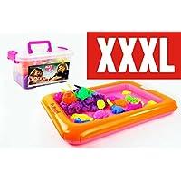 PREMIUM-Kinetischer-Sand-XXXL-Set-35-kg-Sand-in-4-tollen-Farben-Sandkasten-Sandformen-Modelierwerkzeug-Koffer-Kinetic-Sand-Beliebtes-Spielzeug-Bastelspiel-fr-Kinder-mit-hohem-Spafaktor