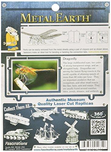 Fascinations-Metal-Earth-MMS064-502708-Dragonfly-Libelle-Konstruktionsspielzeug-1-Metallplatine-ab-14-Jahren