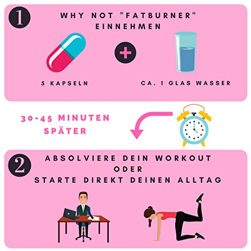 Fatburner Kapseln von Why Not – Wirkung durch Studien bewiesen – unterstützt Fettabbau und Stoffwechsel – 90 Kapseln