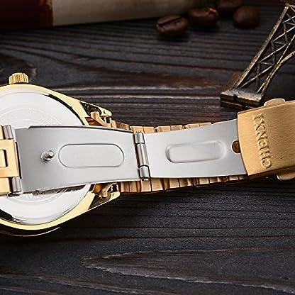 Uhren-Herren-Luxus-Marke-Herren-Sport-Uhren-wasserdicht-Full-Stahl-Gold-Schwarz-Quarz-Herren-Armbanduhr