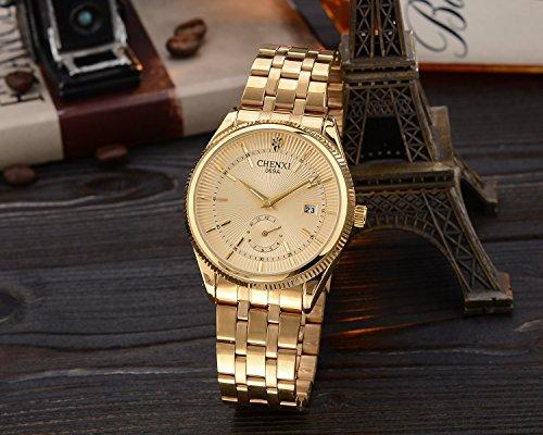 Uhren-Herren-Luxus-Marke-Herren-Sport-Uhren-wasserdicht-Edelstahl-Golden-Quarz-Herren-Armbanduhr