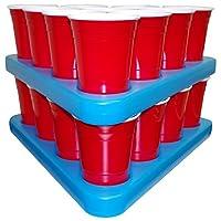 Beer-Pong-Rack-Set-mit-Bier-Khlung-N-Ice-Racks-inkl-Cups-Blle-Anleitung