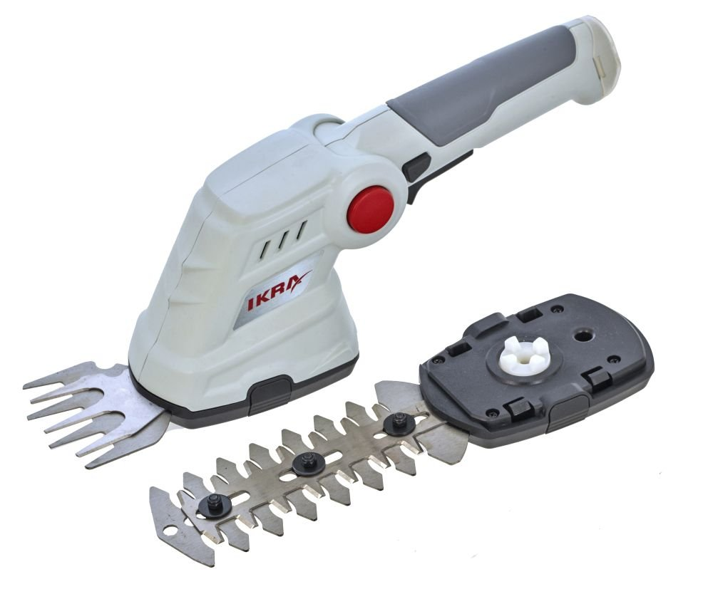 IKRA-50807410-IGBS-36-USB-Akku-Grasschere-Strauchschere-36-V-GrauRot