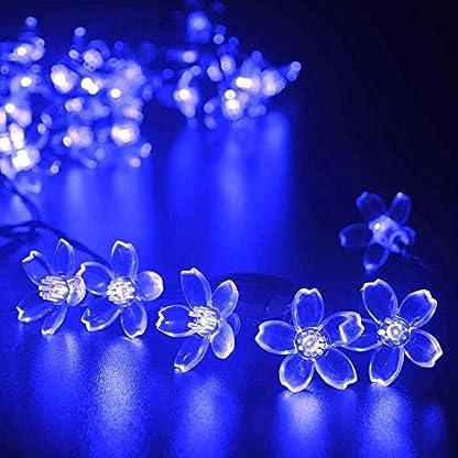 Solarlampen-Blumen-Schnur-Lichter-AuenKINGCOO-Wasserdicht-157ft48m-20-LED-Morgenglorie-Blume-Solarbetriebene-Fee-Lichterkette-fr-Grten-Huser-Hochzeit-Weihnachtsfeier-Urlaub-Dekorationen
