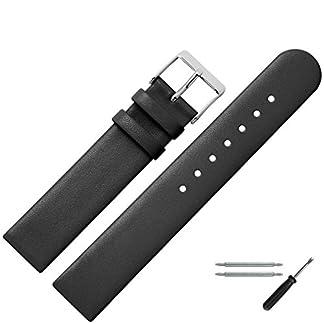 MARBURGER-Uhrenarmband-20-mm-Leder-Schwarz-Uhrband-Set-7612010000120