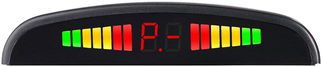 Lescars-Einparkhilfe-Rckfahrhilfe-PA-240-mit-4-Sensoren-Armaturen-Display-Rckfahrsensor