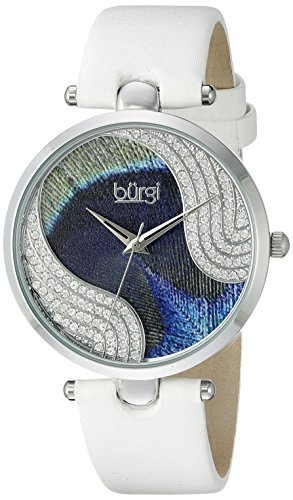 Brgi-Damen-Armbanduhr-bemalt-Analoganzeige-Quarzwerk-mit-Lederband