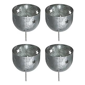 in-due-Adventsstecker-4er-Set-Sterne-Silber-grau-H10cm-Eisen-Windlichtstecker-Kerzenstecker-Adventkranz-Stecker-Weihnachten