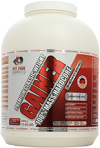 Fit Fox Express Premium Classic Weight Gainer 100 prozent Mass Hardcore, Big Vanilla Cream, 5000g Dose, 1er Pack (1 x 5 kg)