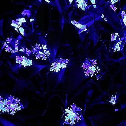 Wantoby-30er-Solar-LED-Lichterkette-6-Meter-Schneeflocke-Weihnachtsbeleuchtung-Solar-Beleuchtung-Kugel-fr-Auen-Innen-Garten-Party-Weihnachten-Fest-Deko