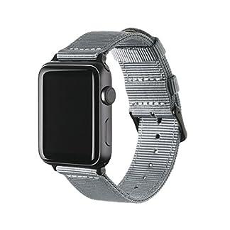 Archer-Watch-Straps-Premium-Nylon-Armband-fr-Apple-Watch-Schnallen-und-Adpaters-in-Edelstahl-und-Schwarz-Farben-Uhrenarmband-fr-Herren-und-Damen-Mehrere-Farben-38mm-42mm