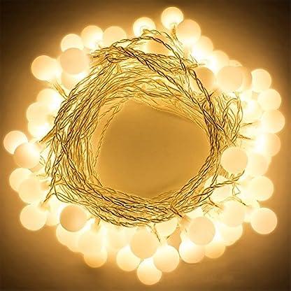 LED-Lichterkette-Rusee-50-LED-Globe-Lichterkette-Batterie-Warmwei-String-Licht-Dekoratives-Licht-fr-Party-Garten-Weihnachten-Halloween-Hochzeit-Beleuchtung-Deko