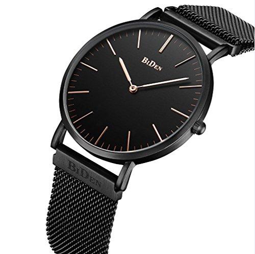 Unisex-Armbanduhr-Herren-Damen-Uhr-Edelstahl-Magnetische-Mesh-Armband-Uhren-Mnner-Wasserdicht-Analog-Quarz-Mode-Klassisch-Dnn-Armbanduhr