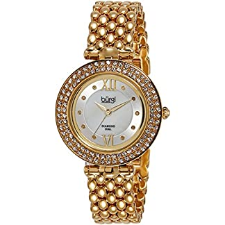 Burgi-Damen-Armbanduhr-Woman-Analog-Quarz-BUR126YG
