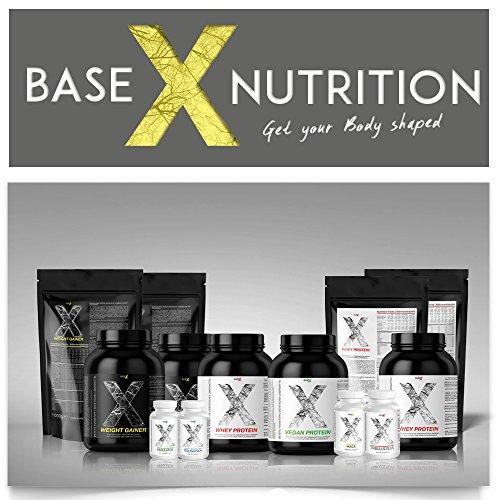 baseXnutrition, WEIGHT GAINER, Protein / Kohlenhydrate Eiweissshake, das Optimum für schnellen Gewicht- u. Muskelaufbau, 1000g Beutel Vanille