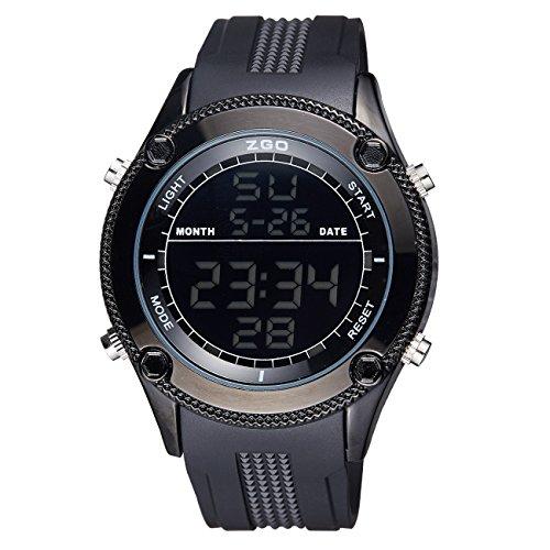 Herren-Jugendliche-Uhren-Militr-Digital-Sport-Wasserdicht-Gro-LED-Schwarz-Armbanduhr-Mnner-Multifunktions-Wecker-Stopuhr-Casual-Quarz-Gummi-Uhr