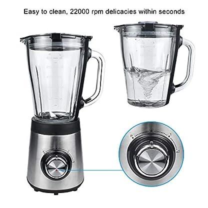 Multifunktions-Standmixer-Deeya-15L-Glaskanne-22000-Umdrehungen-Hochleistungsmixer-Smoothie-Maker-500W-Eis-Crushen-2-Geschwindigkeitsstufen-mit-Pulse-Funktion-und-4-fach-Edelstahlmesser