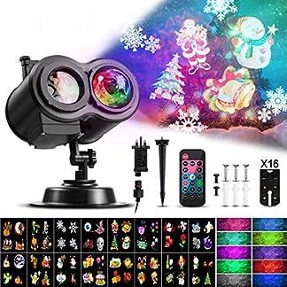 Led-Projektor-Weihnachten-Weihnachtsbeleuchtung-AuenInnen-Lichtprojektor-fr-Halloween-Ostern-Neujahr-Geburtstag-16-Motiven-mit-Wasserwellen-Welleneffekt-Wasserdicht-IP65-LED-Projektionslampe