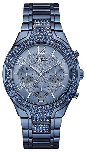 Guess-Damen-Analog-Quarz-Uhr-mit-Edelstahl-Armband-W0628L6