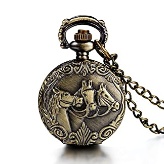 JewelryWe-Steampunk-Damen-Herren-Taschenuhr-drei-Pferden-Design-auf-Deckel-Uhranhnger-Quartz-Kettenuhr-Uhr-Halskette
