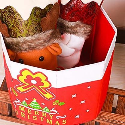 Amosfun-Filzkorb-Filz-Aufbewahrungskorb-Aufbewahrungstasche-Weihnachten-Geschenkboxen-Weihnachtsbaumstnder-Christbaumstnder-Tischdeko-rot