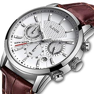 LIGE-Herren-Armbanduhr-Leder-analog-Quarz-Datum-Business-Kleid-Armbanduhr-fr-Herren-wasserdicht