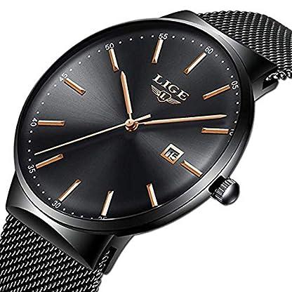 Uhren-Herren-Mode-Wasserdichte-Edelstahl-Geschft-Herrenuhr-Analoge-Quarz-Armbanduhr-Luxusmarke-LIGE-Uhr-Schwarz-Kleid-Kalender-Uhr-Mesh-Band