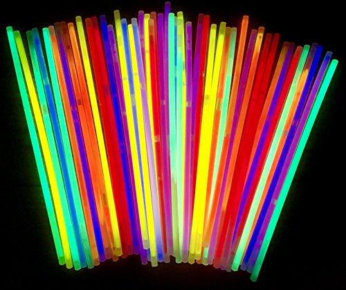 molinoRC | 50 Knicklichter | Leuchtstäbe | Armreifen | Glowstick | Partylichter | Neon rot gelb grün pink orange blau | Premium Lichter, leuchten ewig | deutsche Marke Expressversand BRD